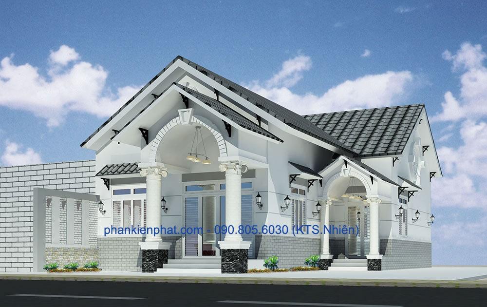 Biệt thự mái chữ A đẹp diện tích 10,5 x 17,5m tại Bình Dương