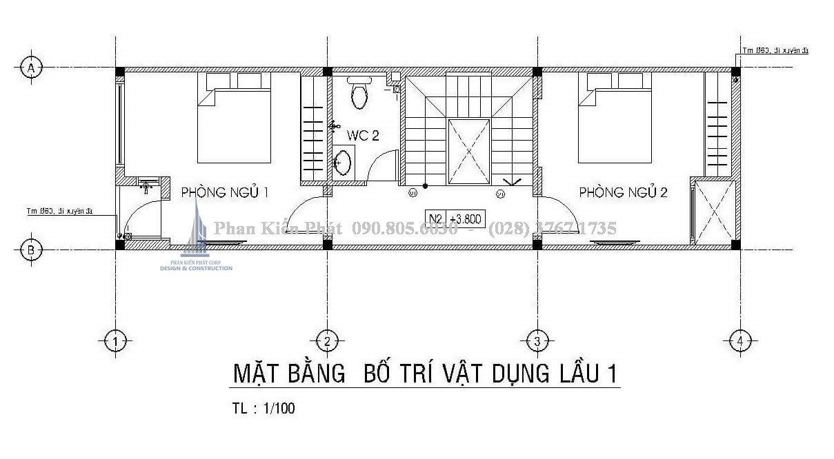 Bo Tri Mat Bang Lau 1 Nha 1 Tret 1 Lau San Thuong