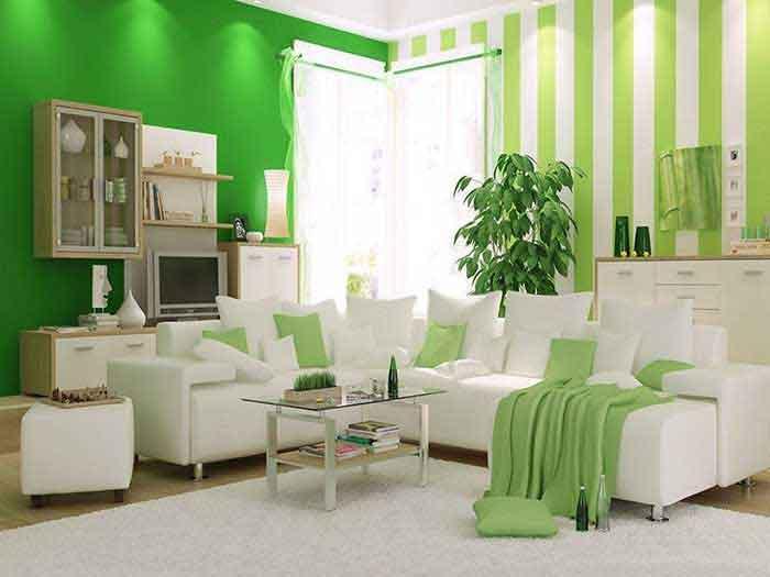 Thiết kế nội thất màu xanh trẻ trung
