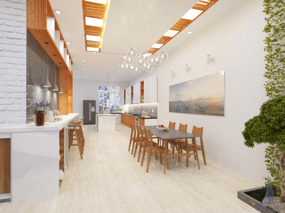Mẫu bếp ăn biệt thự hiện đại view 5