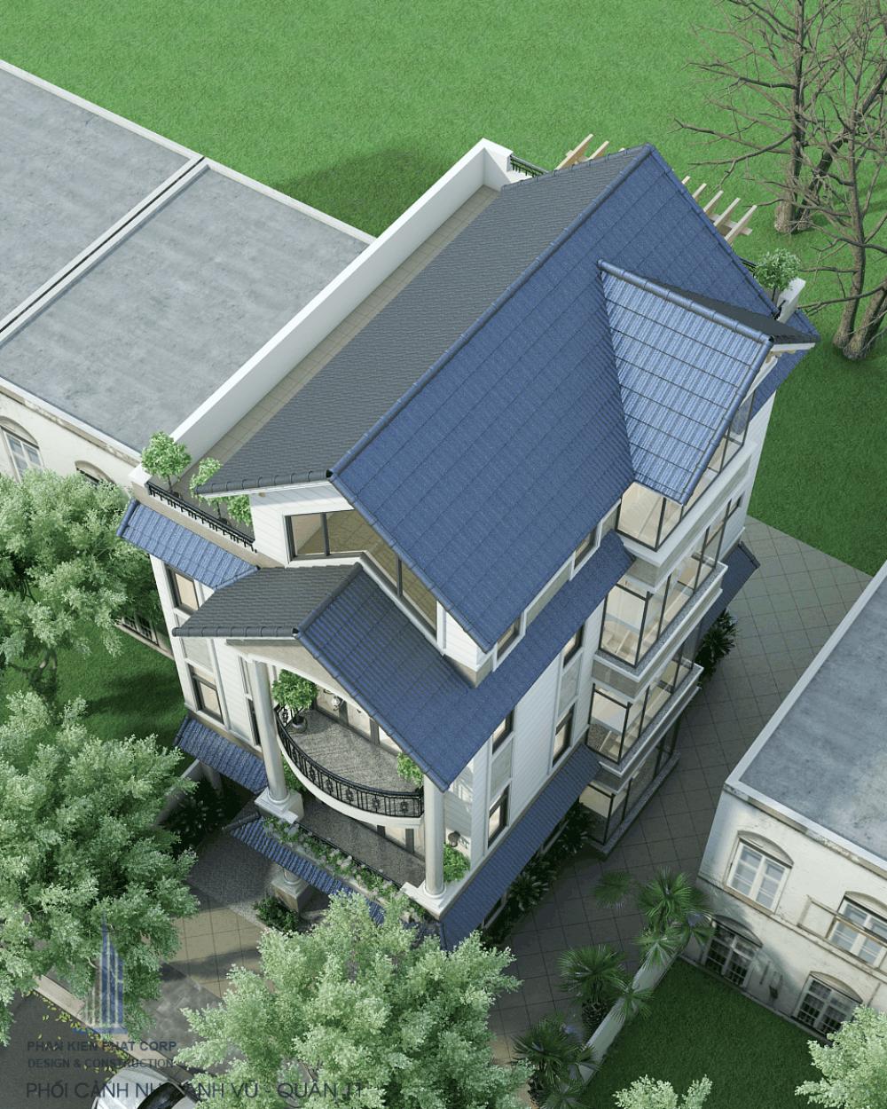 Mẫu biệt thự 4 tầng hiện đại đẹp
