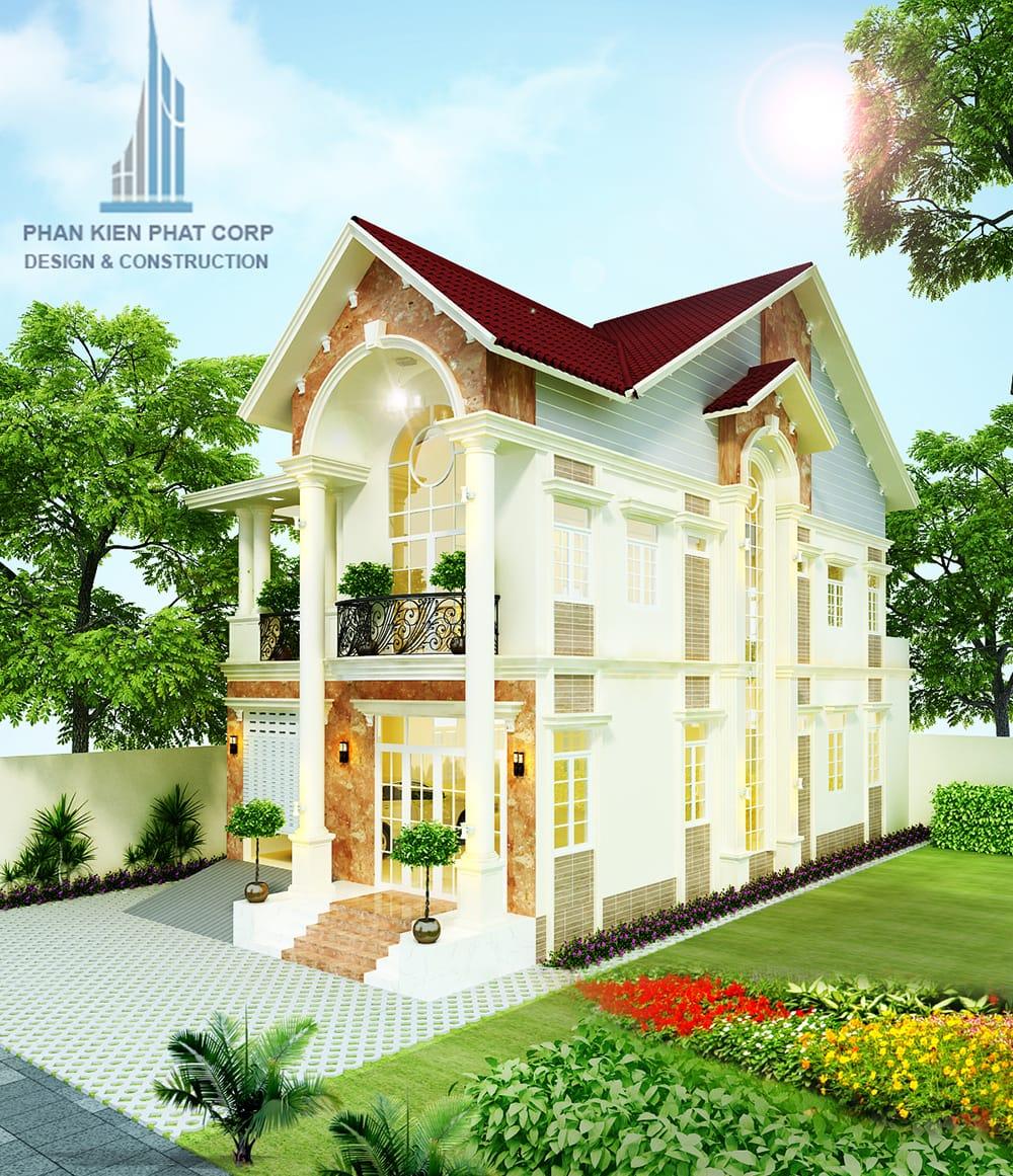 Mẫu biệt thự tân cổ điển 12x25m tại Tiền Giang