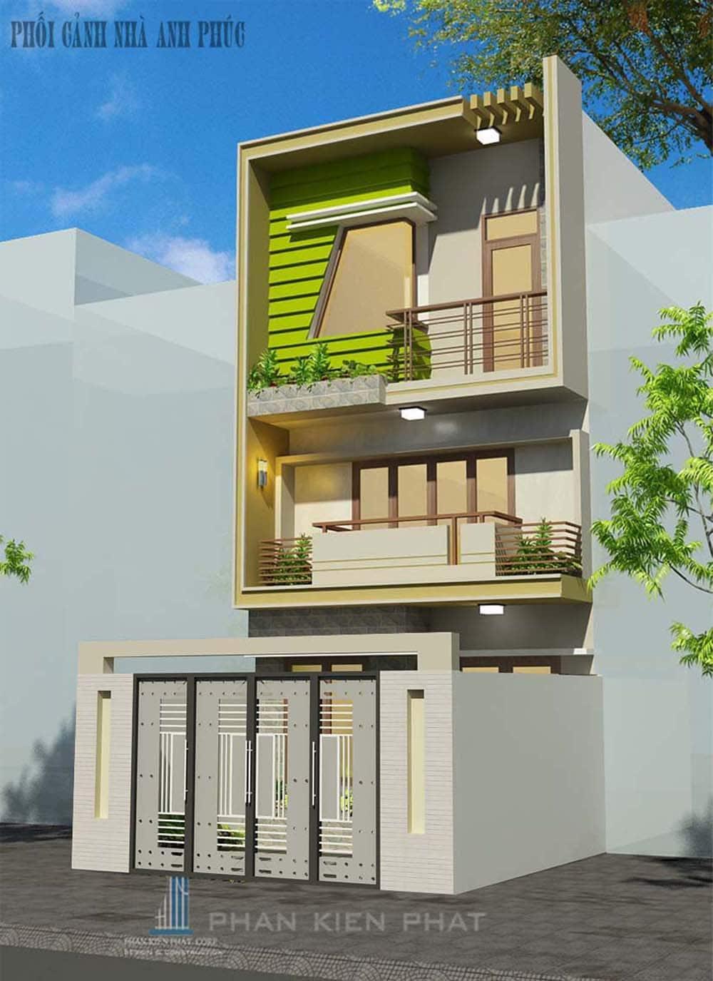 Mẫu nhà phố 3 tầng 5x16 hiện đại tại Gò Vấp