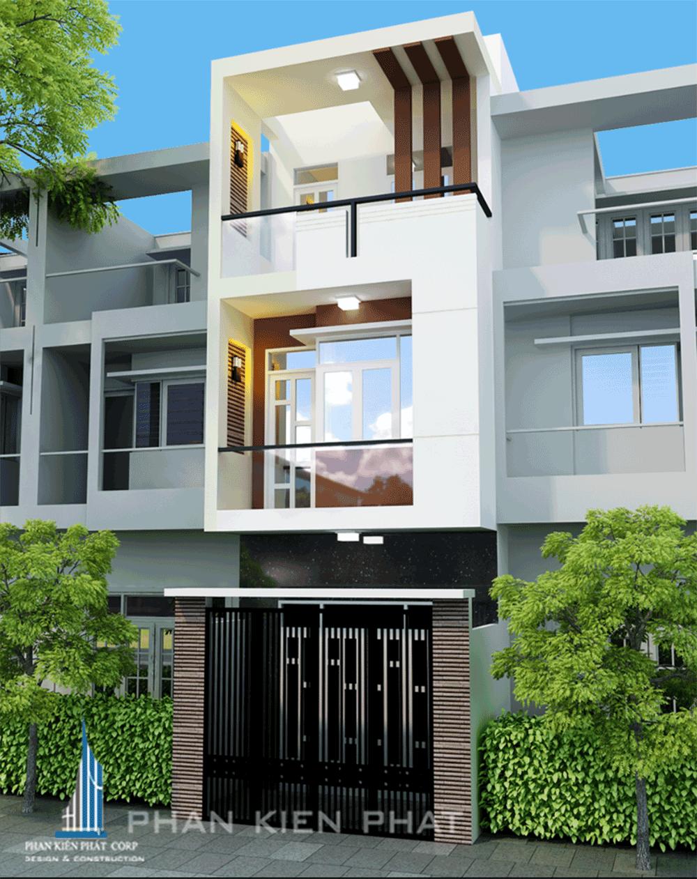 Mẫu nhà phố 3 tầng đẹp diện tích 4x12m tại Gò Vấp, Tp. HCM