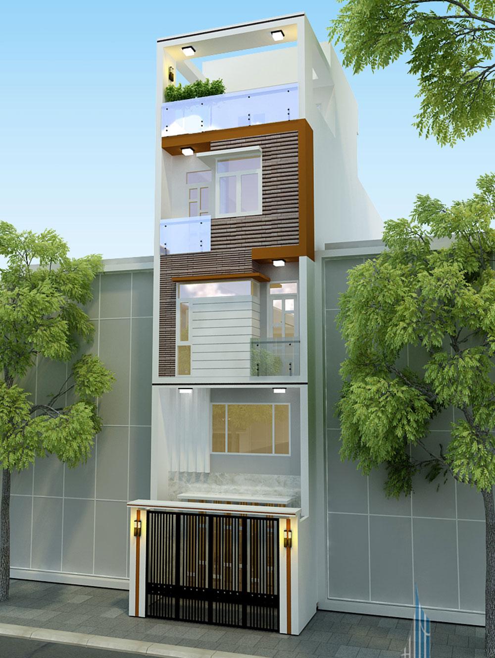 Mẫu nhà phố 4 tầng diện tích 4x15 hiện đại tại Gò Vấp