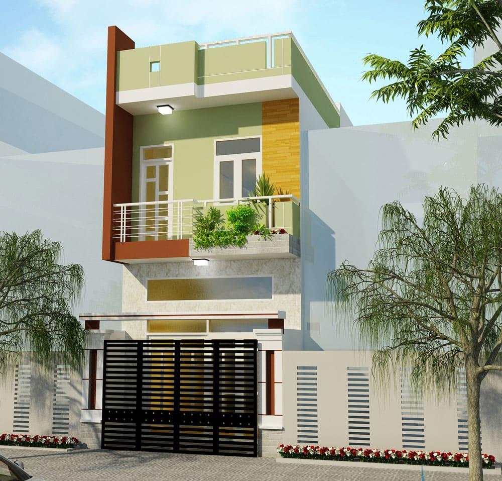 Mẫu nhà phố lệch tầng hiện đại thoáng mát tại Tân Phú