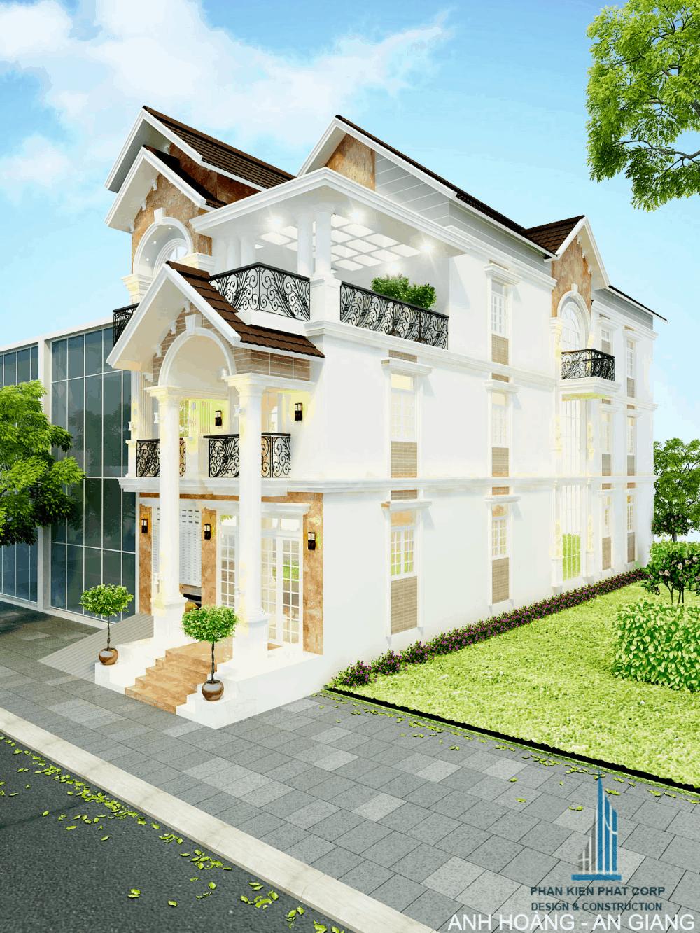 Mẫu thiết kế biệt thự bán cổ điển tại An Giang