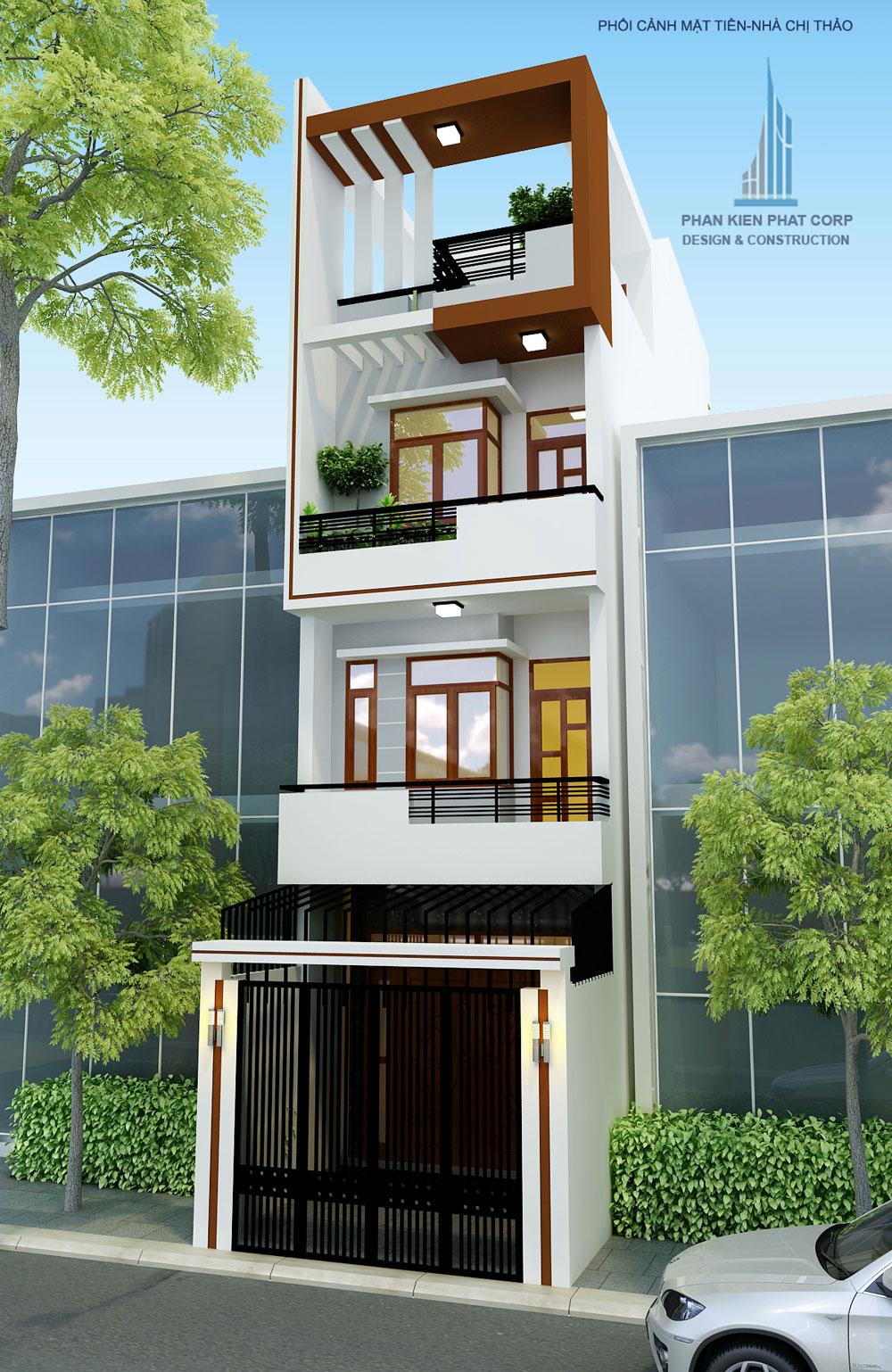 Mẫu nhà phố 4 tầng 4x14,5m hiện đại tại Bình Tân