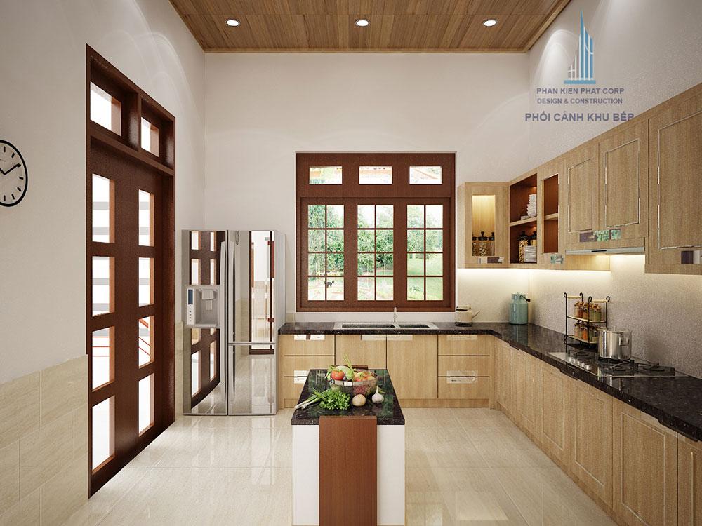Phối cảnh bếp góc nhìn 2