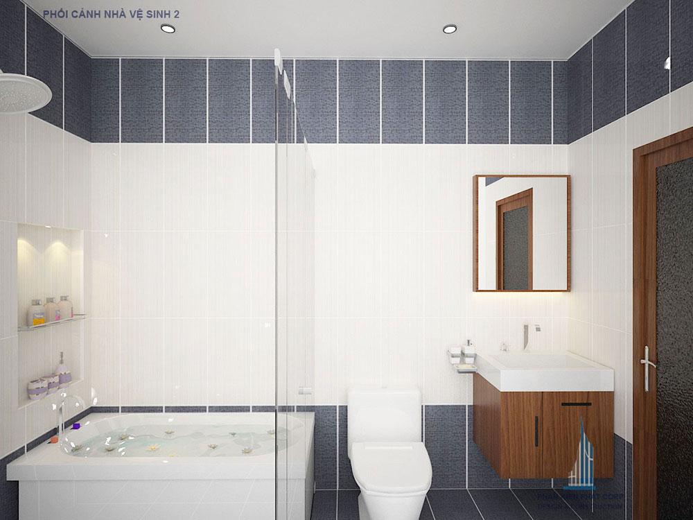 Phối cảnh nhà vệ sinh 2 góc nhìn 2