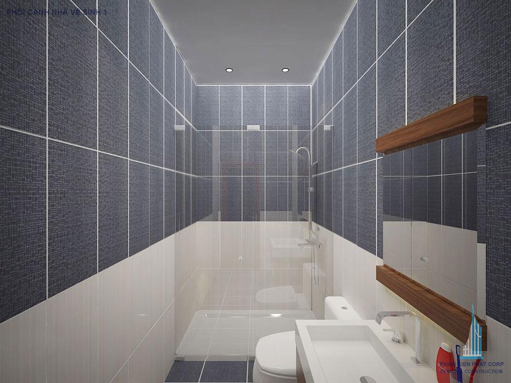 Phối cảnh nhà vệ sinh góc 1