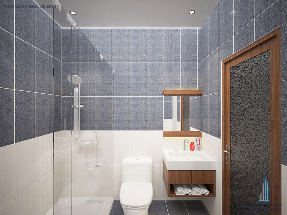 Phối cảnh nhà vệ sinh góc 2
