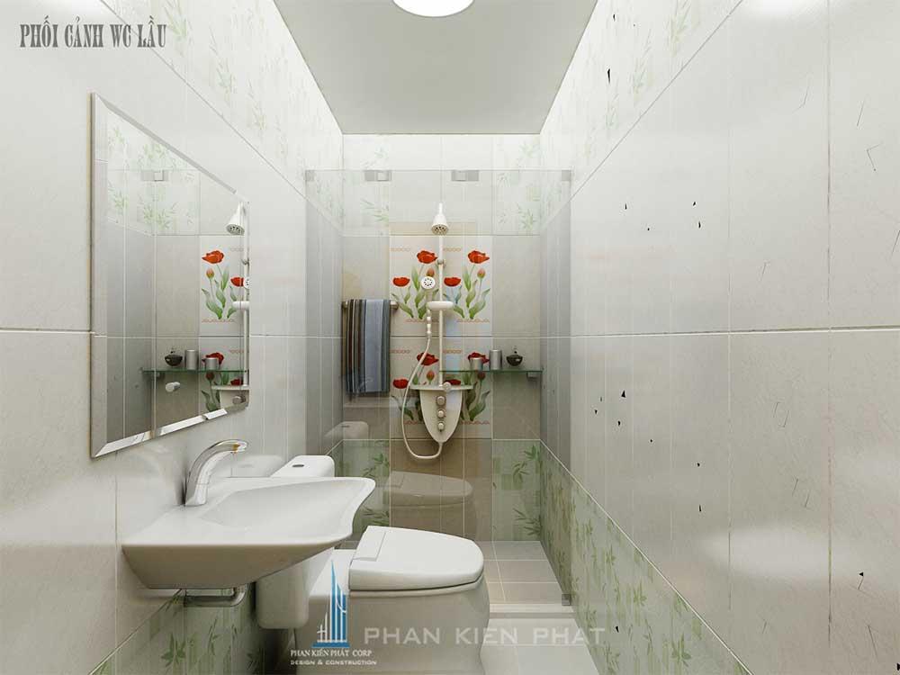 Phối cảnh nhà vệ sinh trên các tầng