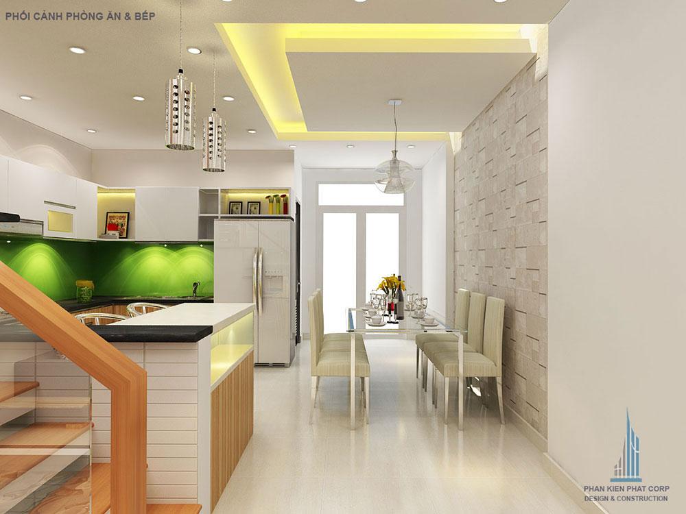 Phối cảnh phòng ăn và bếp