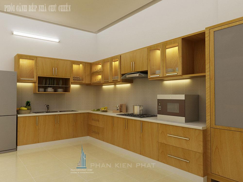 Phối cảnh phòng bếp góc nhìn 1