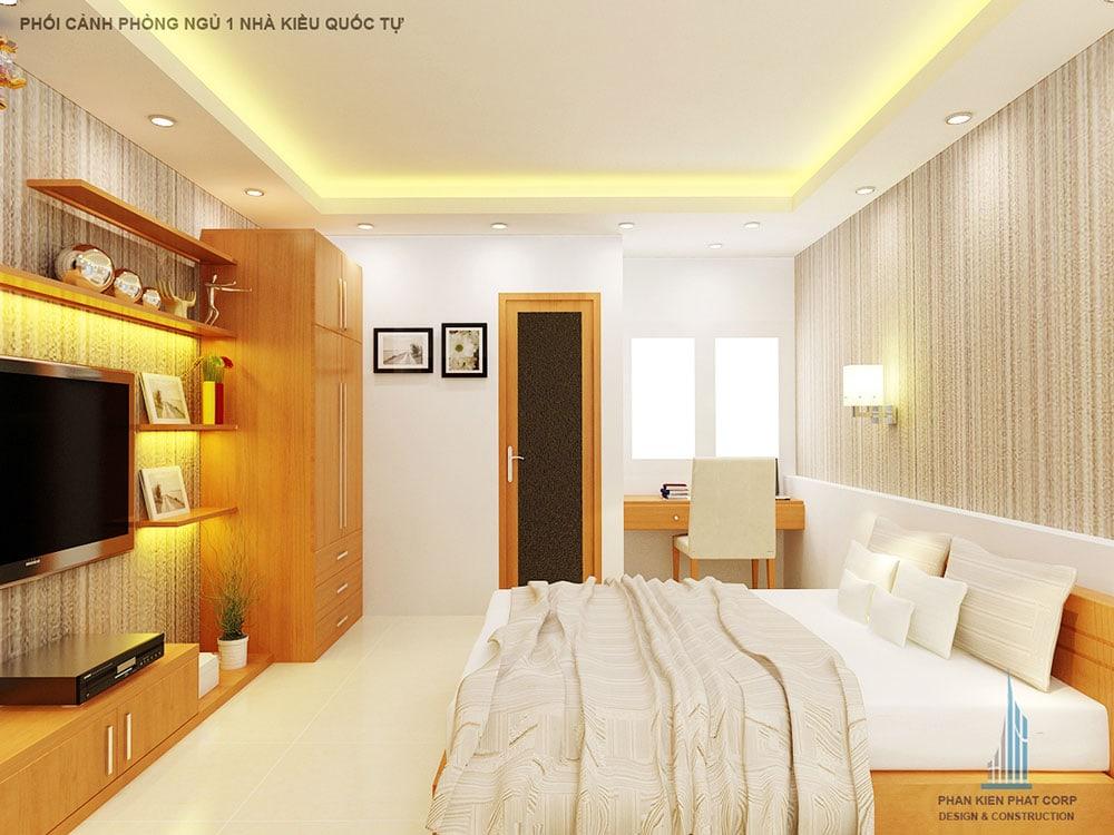 Phối cảnh phòng ngủ 1 góc nhìn 1