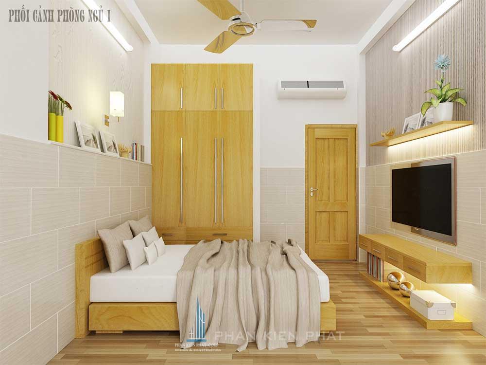 Phối cảnh phòng ngủ 1 góc view 1