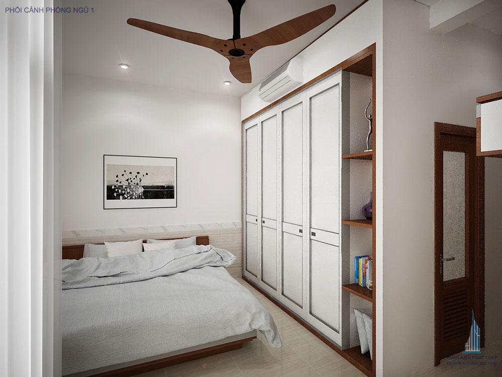 Phối cảnh phòng ngủ 1 góc view 2