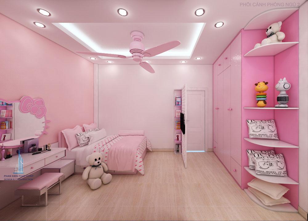 Phối cảnh phòng ngủ 2 cho con gái góc nhìn 2