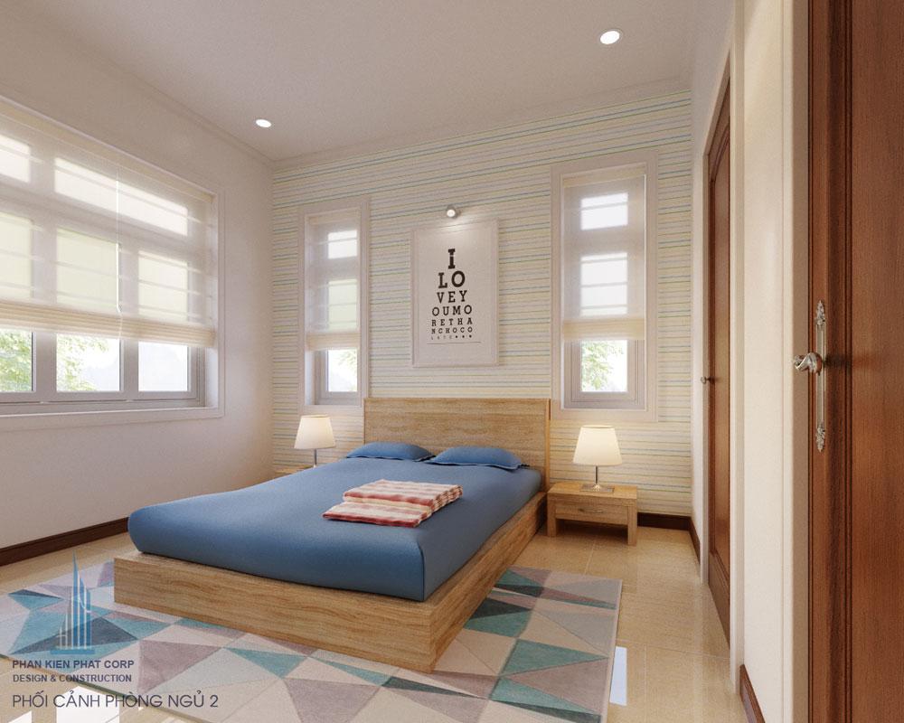 Phối cảnh phòng ngủ 2 góc nhìn 1
