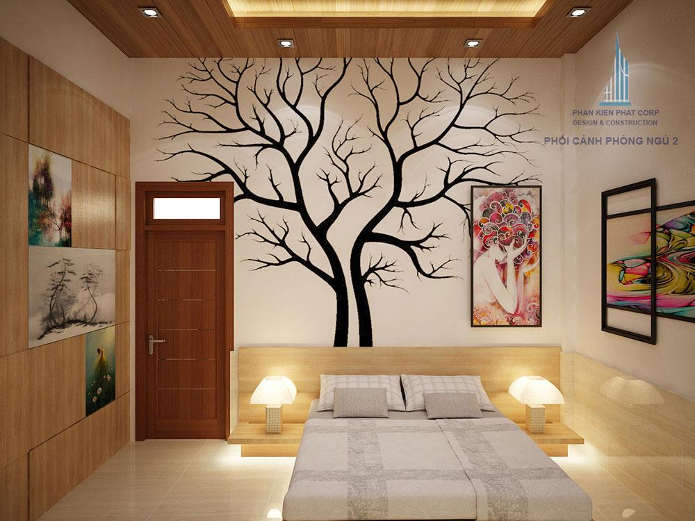 Phối cảnh phòng ngủ 2 góc nhìn 2