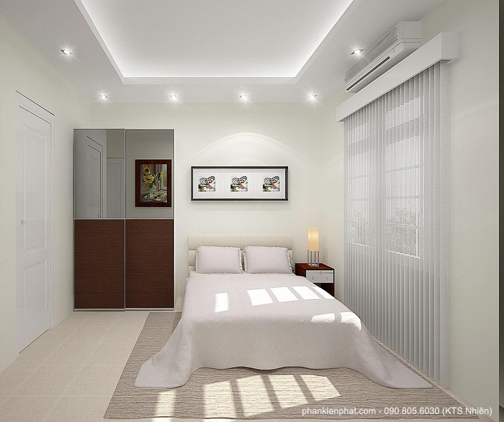 Phối cảnh phòng ngủ 2 góc view 1