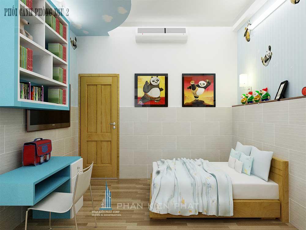 Phối cảnh phòng ngủ 2 góc view 2