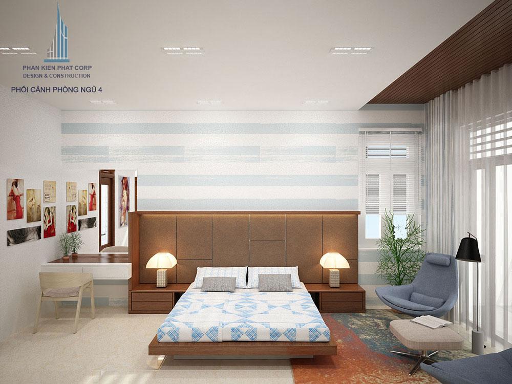 Phối cảnh phòng ngủ 4 biệt thự hiện đại
