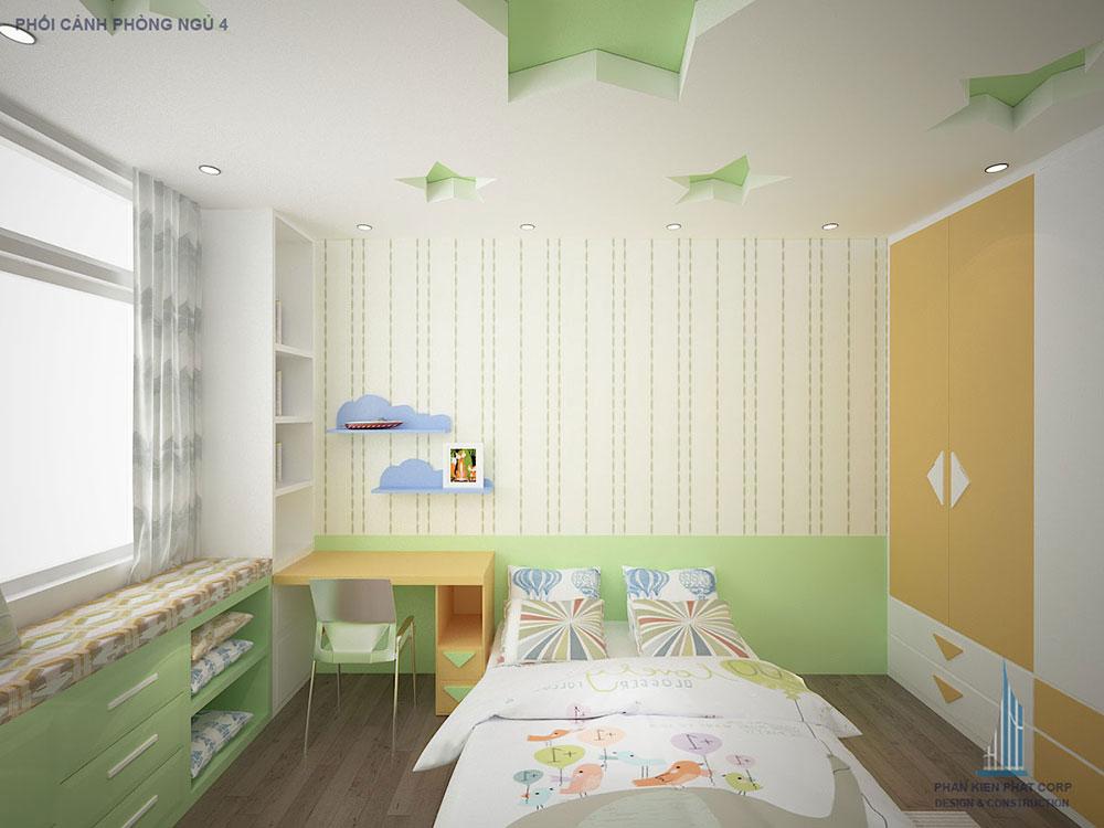Phối cảnh phòng ngủ 4 góc 1