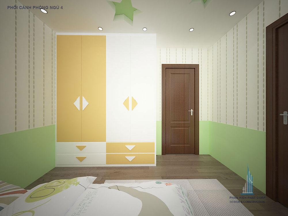 Phối cảnh phòng ngủ 4 góc 2