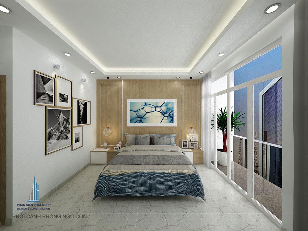 Phối cảnh phòng ngủ con góc 2
