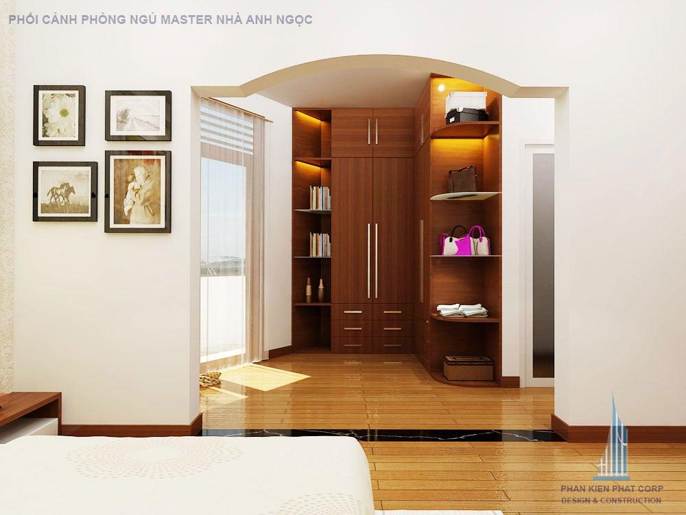 Phối cảnh phòng ngủ góc 3