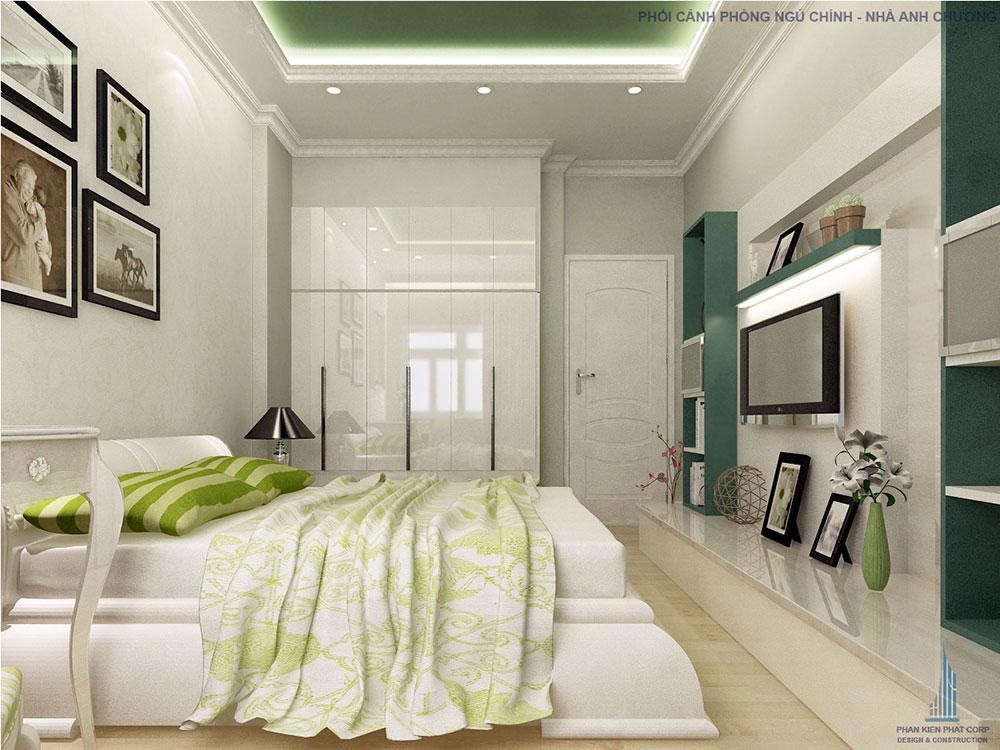 Phối cảnh phòng ngủ lớn góc 1