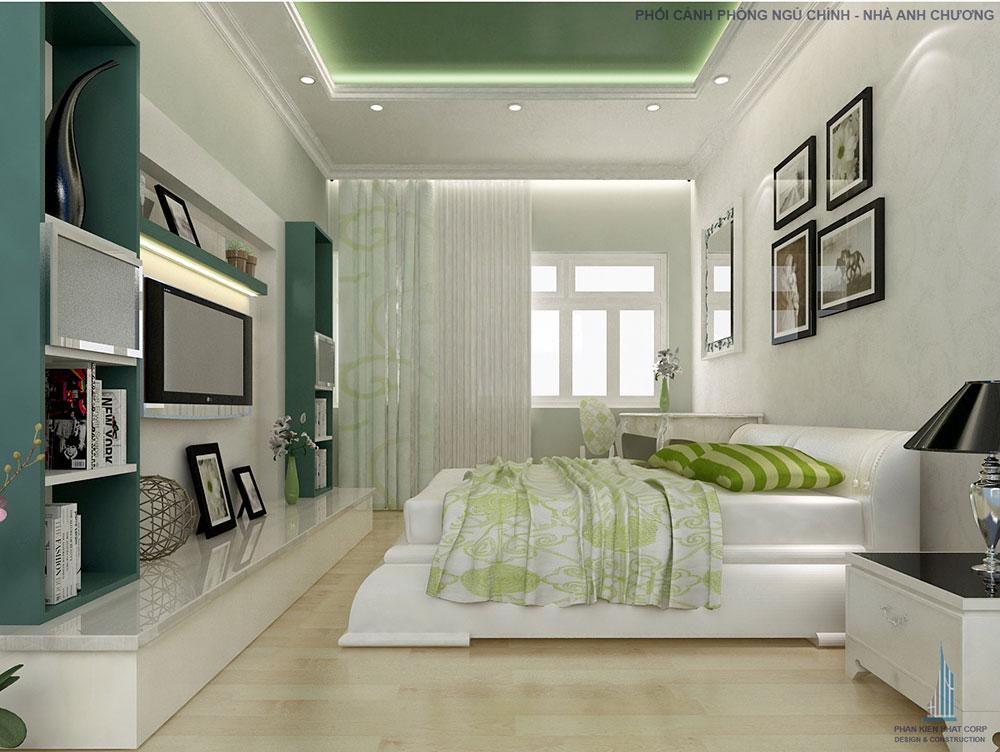 Phối cảnh phòng ngủ lớn góc 2