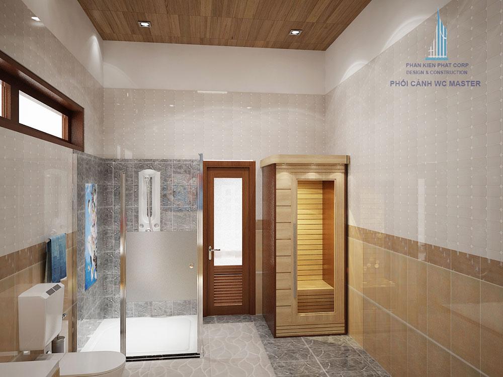 Phối cảnh phòng vệ sinh phòng master góc nhìn 3