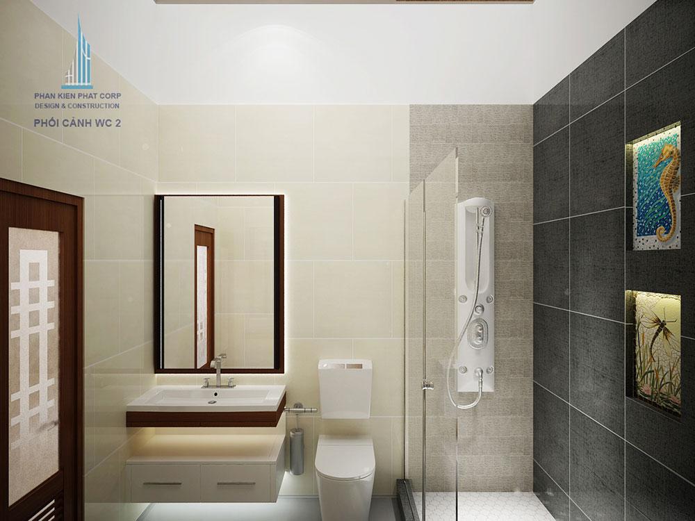 Phối cảnh phòng vệ sinh phòng ngủ 2 góc nhìn 1