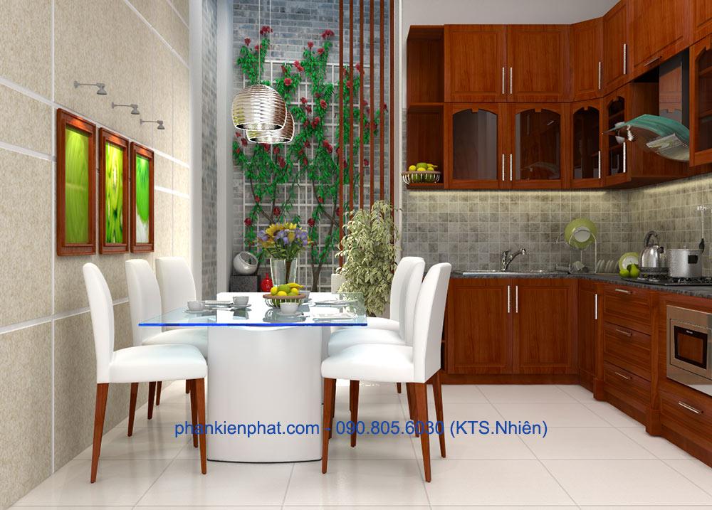 Phòng ăn và bếp góc view 1