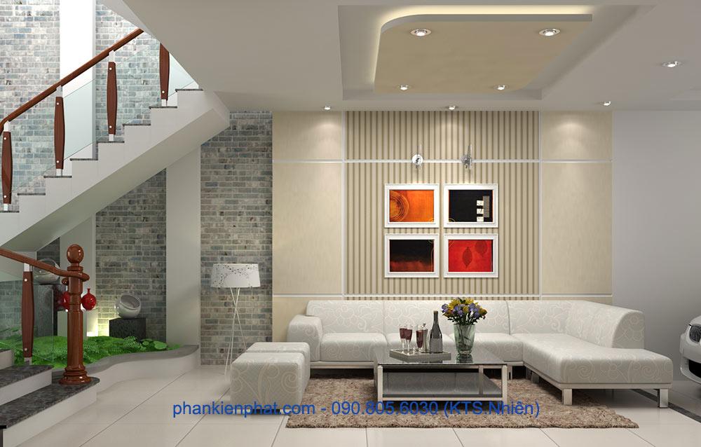 Phòng khách tầng trệt góc view 2