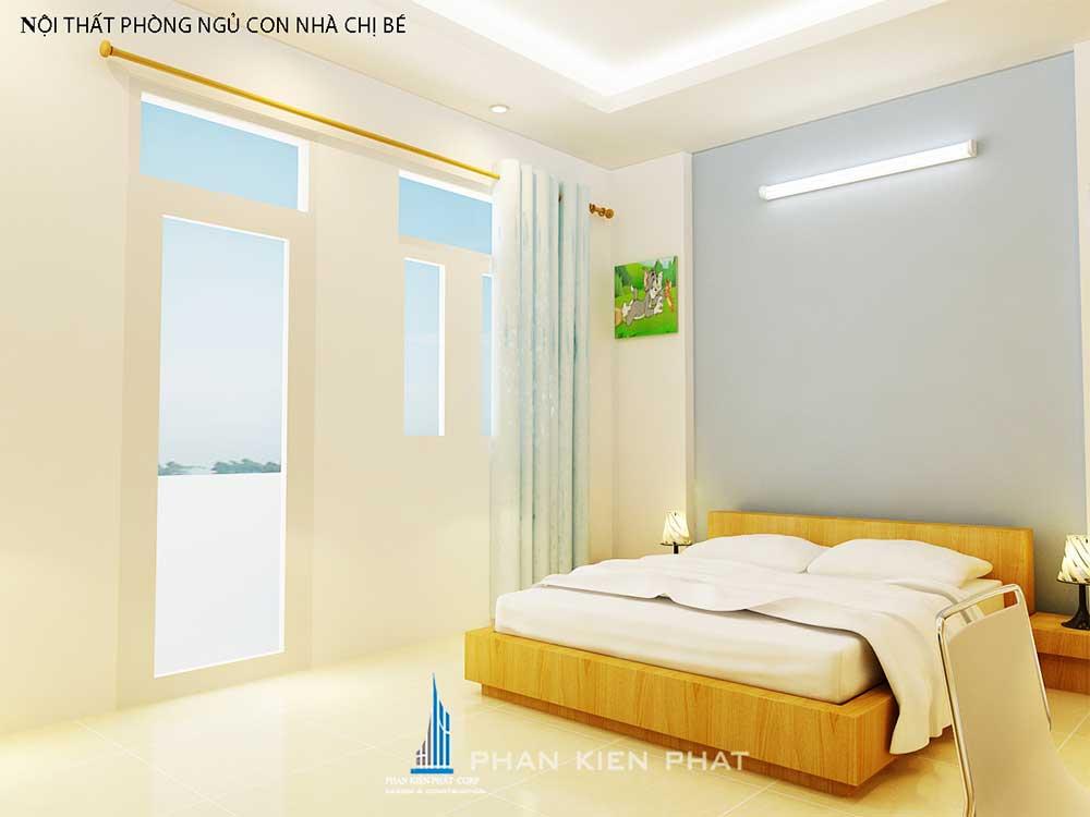 Phòng ngủ 2 nhà phố 3 tầng tại Bình Thuận góc view 1