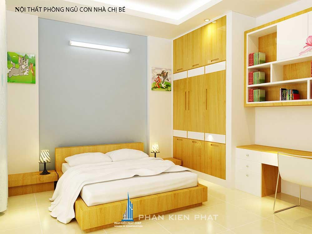 Phòng ngủ 2 nhà phố 3 tầng tại Bình Thuận góc view 2