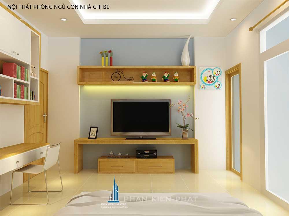 Phòng ngủ 2 nhà phố 3 tầng tại Bình Thuận góc view 3