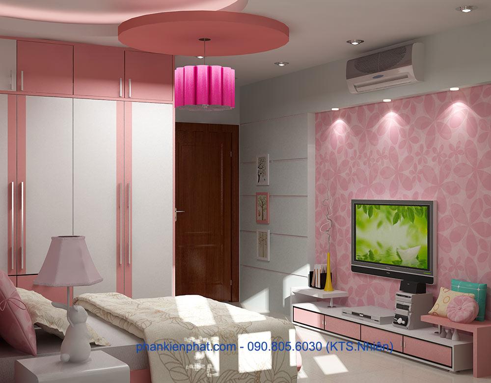Phòng ngủ con gái 1 góc view 1