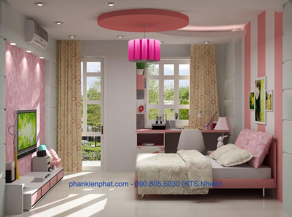 Phòng ngủ con gái 1 góc view 2