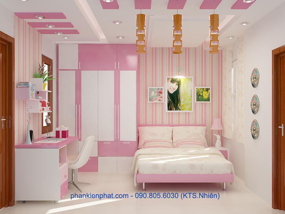 Phòng ngủ con gái 2 góc view 1