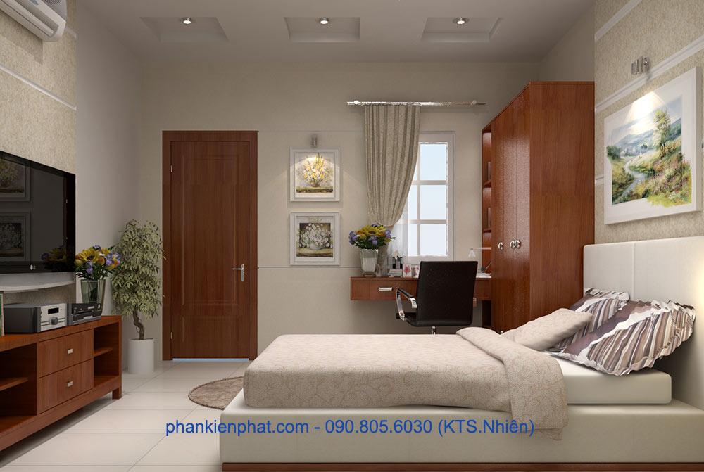 Phòng ngủ vợ chồng góc view 1