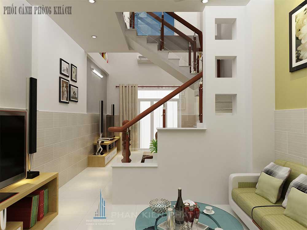 Phòng sinh hoạt chung nhà phố 4 tầng diện tích 4x12m tại Bình Tân góc view 1