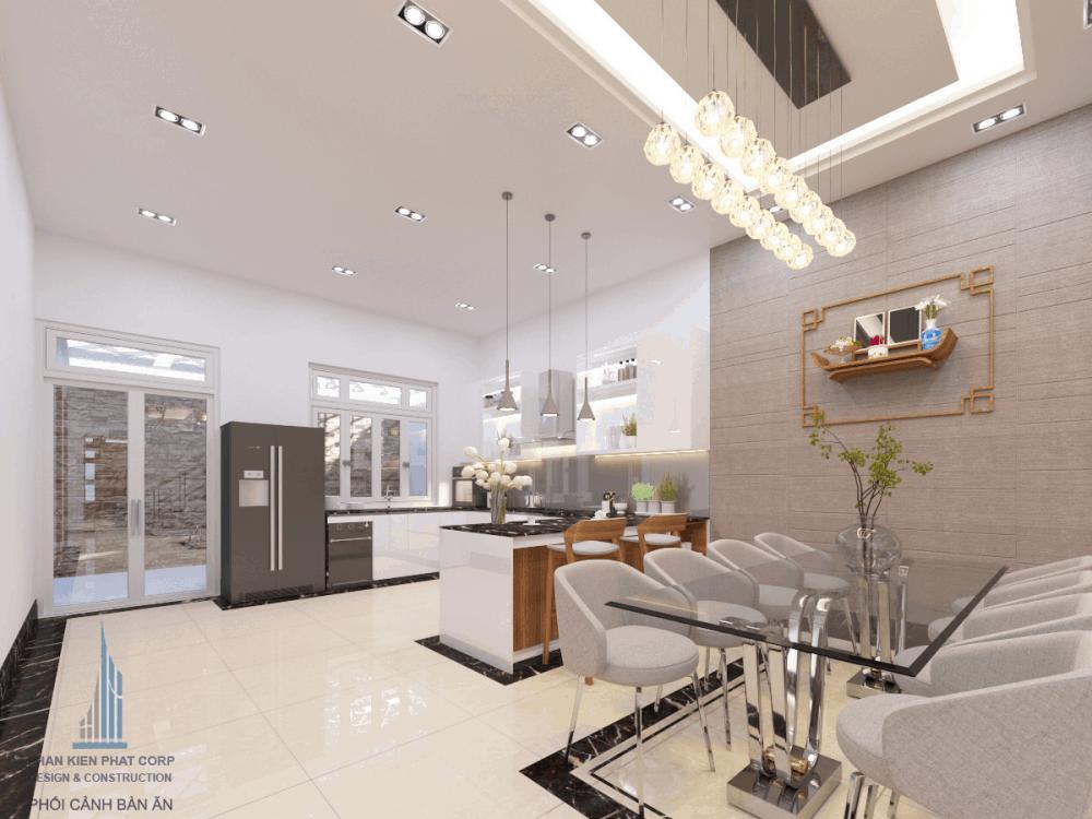 Thiết kế bếp ăn & phòng ăn biệt thự hiện đại view 2