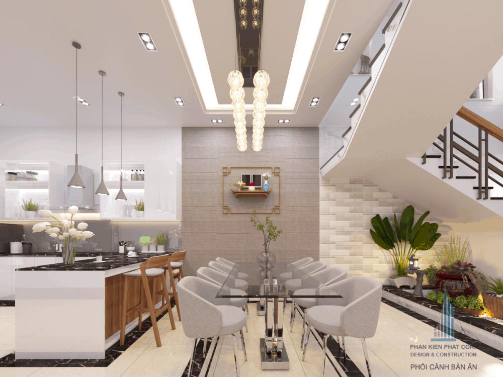 Thiết kế bếp ăn & phòng ăn biệt thự hiện đại view 3