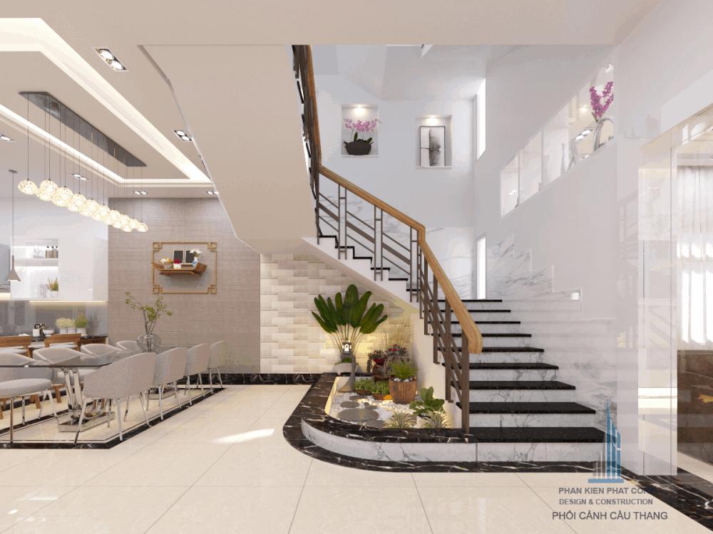 Thiết kế cầu thang biệt thự hiện đại