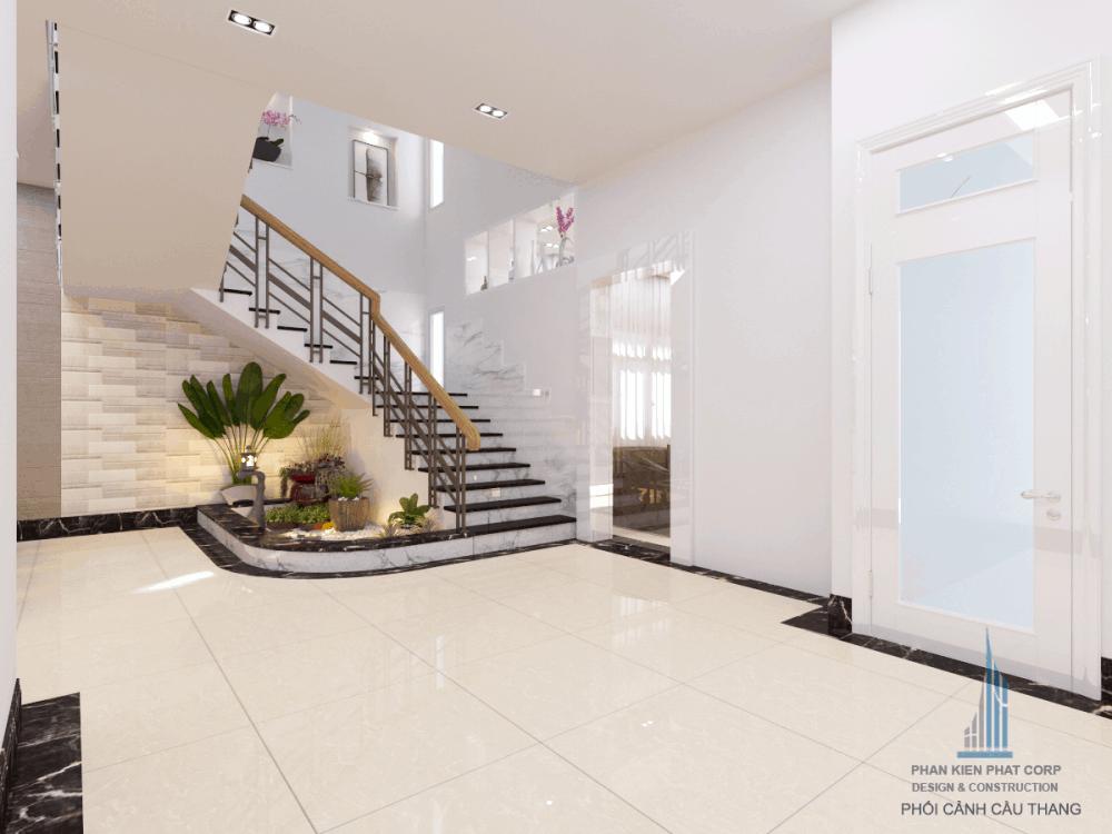 Thiết kế cầu thang biệt thự hiện đại view 2